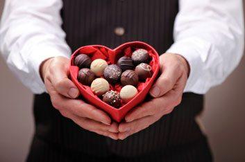 box of chocolate valentine's day