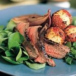 Broiled Steak with Mustard-Glazed Potatoes