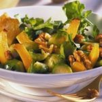 Brussels Sprouts with Walnuts and Arugula