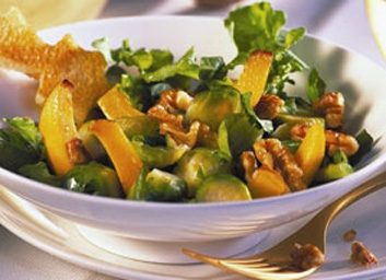 Brussel sprouts and arugula