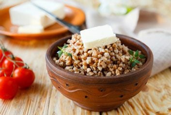 kasha buckwheat grains