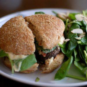 Meatless Monday: Barbecued Portobello Mushroom Burgers & Corn with BBQ Rub