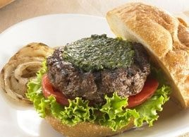 Best Grilled Burgers with Dairy- and Nut-Free Pesto