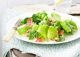 Lightened-Up Creamy Caesar Salad