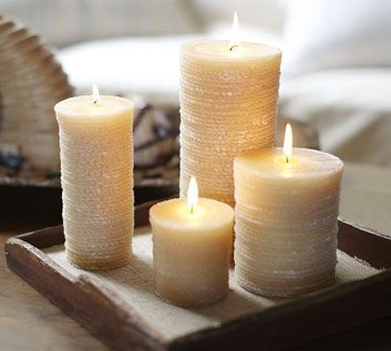 Scented Rope Pillar Candles