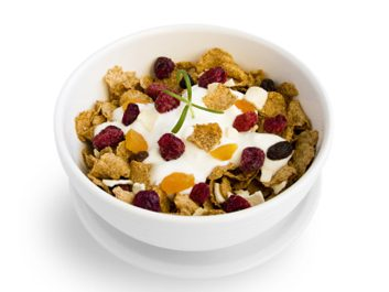 cereal with yogurt
