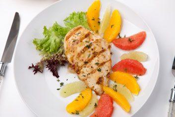 chicken with grapefruit