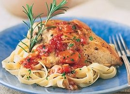 Chicken Breast with Roasted Garlic-Tomato Sauce