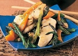 Chicken with Pepper and Asparagus