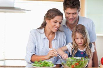 kid cooking parents healthy