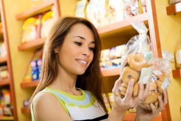 woman label cholesterol