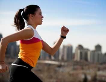 cholesterol run woman running