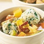 Cidered Pork Stew with Herb Dumplings