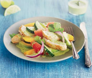 Citrus Chicken Salad with Cilantro Vinaigrette