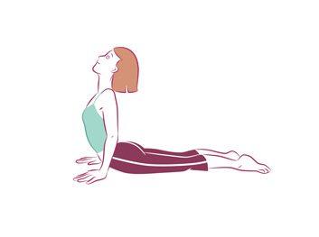 Anti-aging yoga Cobra pose