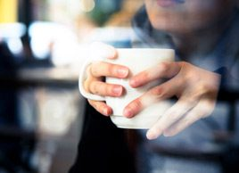 woman coffee tea