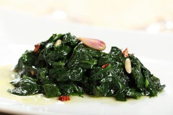 cooked greens spinach