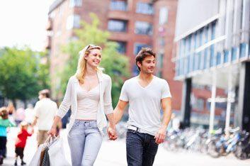 couple walking travel