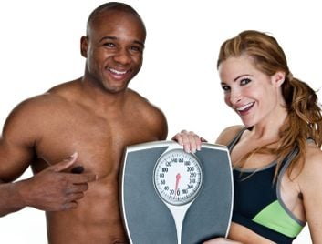 weight loss couple scale
