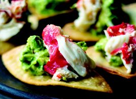 Fresh Crab and Avocado Dip with Crispy Tortilla Chips
