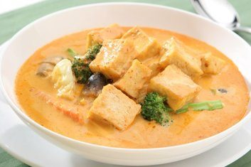 red curry tofu