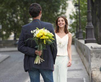 date flowers man