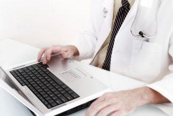 doctor laptop computer