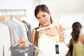 woman dress shopping