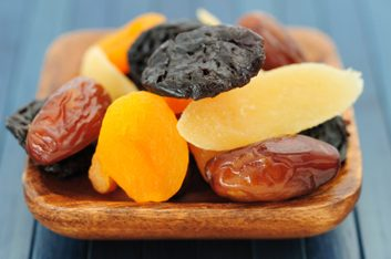 Sticky dried fruit