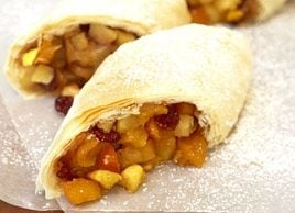 Dried-Fruit & Apple Strudel