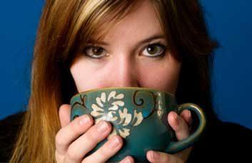 drinking coffee tea