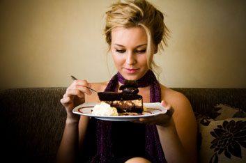eating dessert