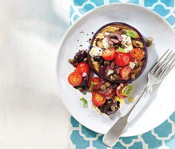 Eggplant-slice Caprese Salad