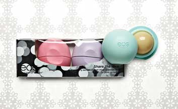 EOS Holiday lip balm collection
