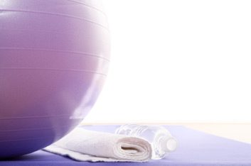 exercise ball mat