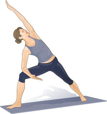 extended warrior stretch