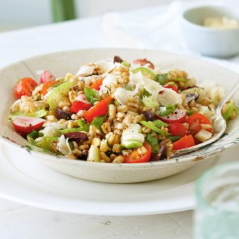 Spring Garden Vegetable Farro Salad
