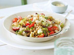 Spring Garden Vegetable Farro Salad
