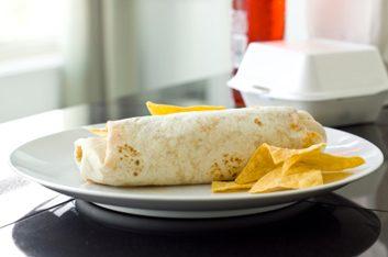 fast-food burrito