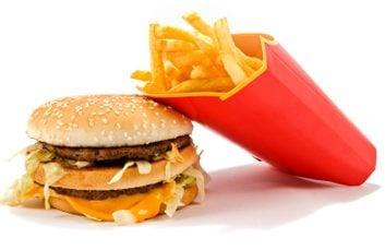 fast-food burger fries