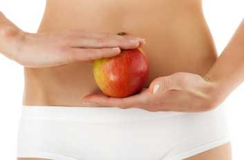 fibre flat stomach apple