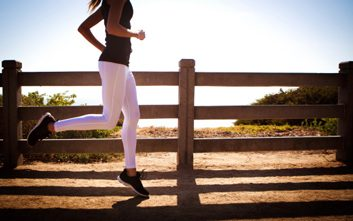 fitness woman running pants