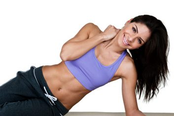 fitness woman sports bra
