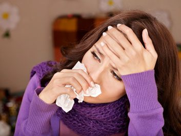 woman with cold or flu