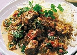 Fragrant Lamb with Spinach