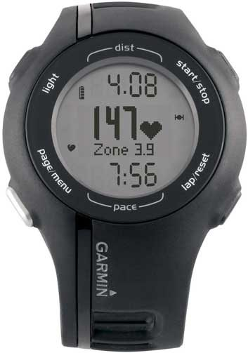 3. Garmin Forerunner 210 watch with heart rate monitor
