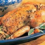 Golden-Roasted Chicken with Old-Fashioned Stuffing