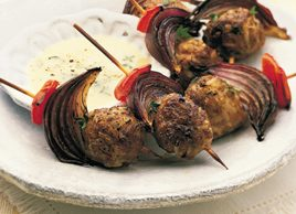 Greek Meatballs with Lemon Dip