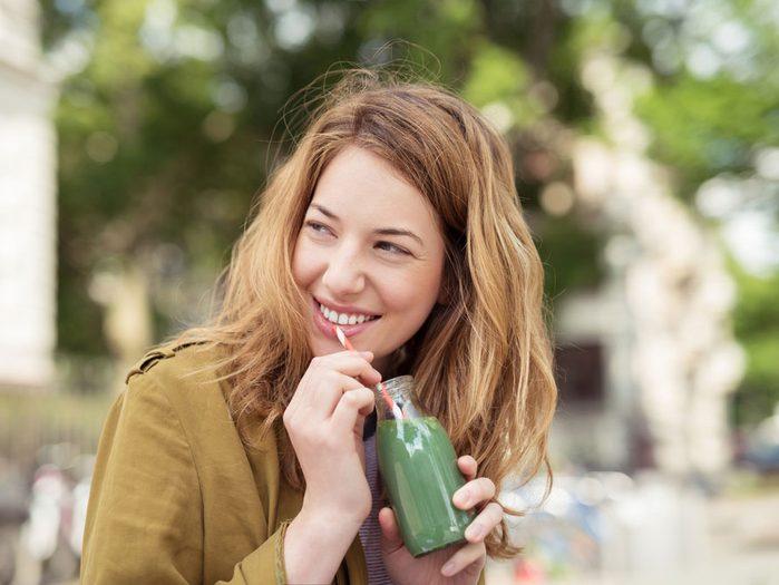 Green juices glowing skin