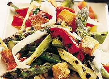 asparagus and peppers